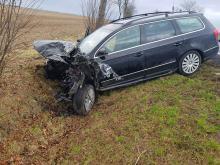 Dwie osoby ranne po wypadku na DK 38