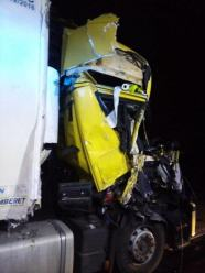 Dwie ciężarówki zderzyły się w Grodzisku