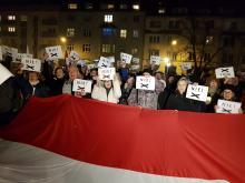Ponad 1000 osób protestowało w obronie wolnych sądów
