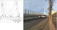 <i>Na ulicy Armii Krajowej zaplanowano 3 miejsca do wsiadania i wysiadania. Będą one się znajdowały na nitce drogi prowadzącej do dworca PKP. W lokalizacji jak na zdjęciu</i>