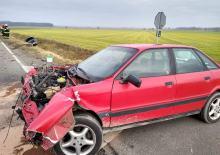 Utrudnienia na DW 414 po zderzeniu pojazdów