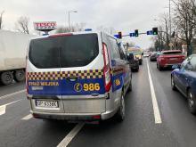 Samochód Straży Miejskiej zderzył się z Punto. Jedna osoba w szpitalu