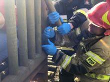 Strażacy interweniowali na placu zabaw w Kędzierzynie-Koźlu