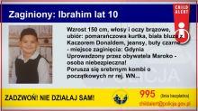 Policja uruchomiła Child Alert. Cała Polska szuka 10-letniego Ibrahima