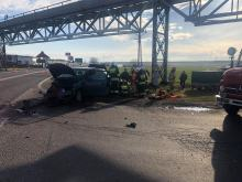 Zderzenie samochodów w Źlinicach. 3 osoby poszkodowane