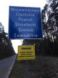Ptasia Grypa w powiecie gliwickim. Strażacy umieścili ostrzeżenia w gminie Zawadzkie