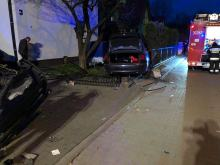 Pijana 29-latka potrąciła mężczyznę a potem wjechała w posesję na osiedlu Chabrów