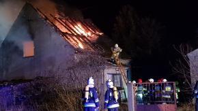 Pożar domu jednorodzinnego przy ulicy Górnej