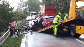 Śmiertelny wypadek w Zawadzie. Droga jest nieprzejezdna
