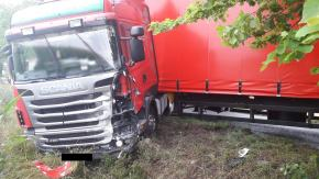 Niebezpieczne zdarzenie na DW 414 pomiędzy Lubrzą a Dobroszewicami