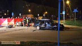 �miertelny wypadek w Kluczborku. Zgin�� motocyklista