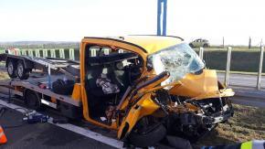 Niebezpieczna niedziela na A4. Do wypadku lądowały dwa śmigłowce LPR