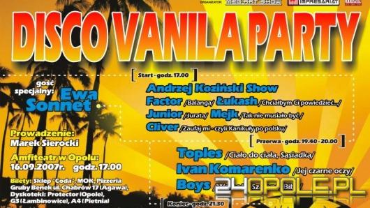 W niedzielę Disco Vanila Party /konkurs/