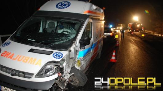 Wypadek karetki koło Osowca