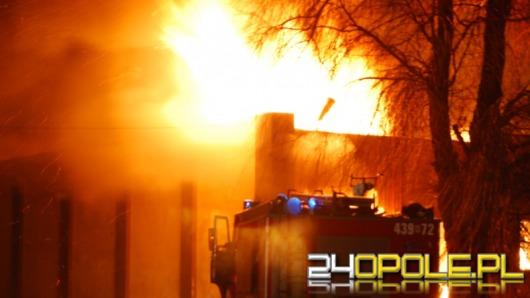 Pożar tartaku w Kluczborku