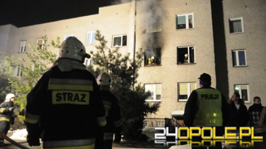 Pożar mieszkania na opolskiej Malince