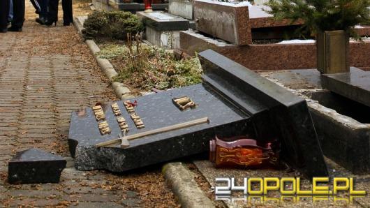 Bestialski wandalizm na cmentarzu w Zdzieszowicach
