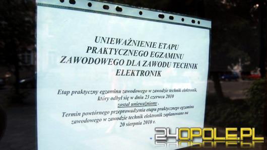 Skandal z egzaminami na elektroników