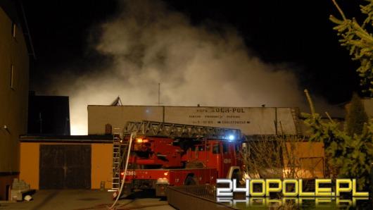 Ogień strawił zakład papierniczy w Byczynie
