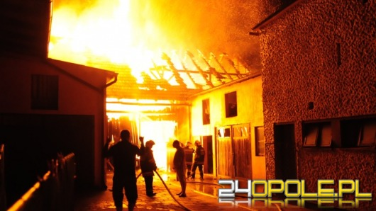 Spłonęła stodoła w Polskiej Nowej Wsi. To było podpalenie