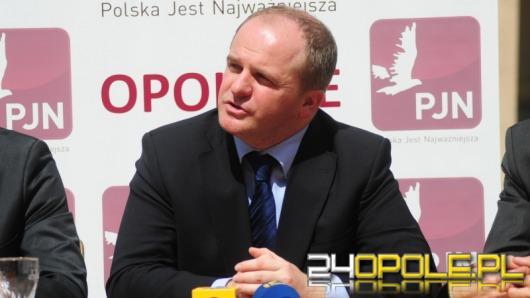 """Szef  partii """"Polska Jest Najważniejsza"""" w Opolu"""