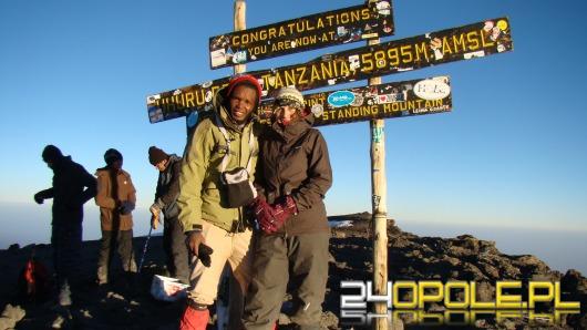 Opolanka na szczycie Kilimandżaro