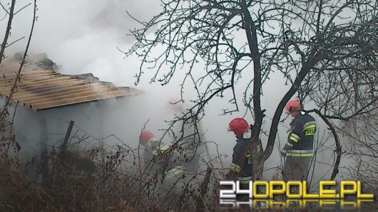 Pożar altany, strażacy podejrzewają podpalenie