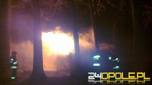 Pożar działkowej altanki na Zaodrzu