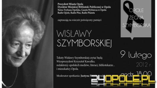 Opole pożegna Wisławę Szymborską