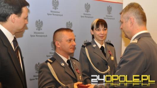 Opolscy policjanci odznaczeni przez ministra
