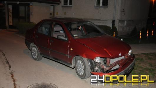 Pijany kierowca uszkodził dwa zaparkowane auta