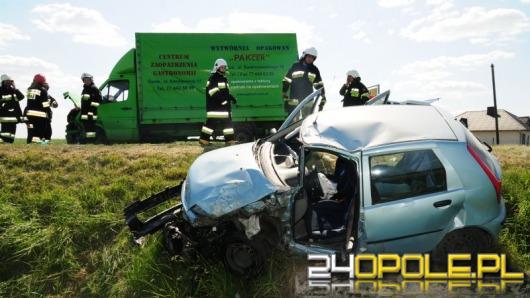 Wypadek na trasie Opole-Brzeg, jedna osoba ranna
