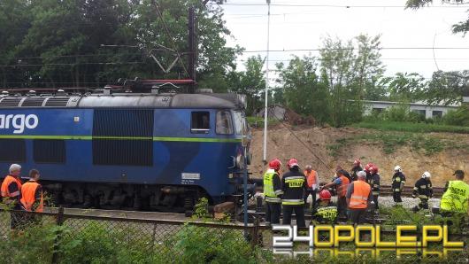 W Czarnowąsach wykoleiła się lokomotywa
