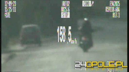Niemiecki motocyklista uciekał przed policją