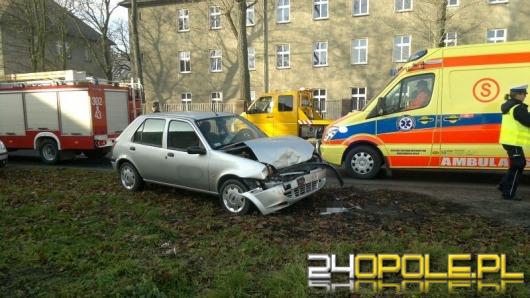 Dwa auta zderzyły się na ulicy Prószkowskiej