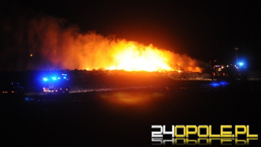 Ogromny pożar na opolskim wysypisku śmieci