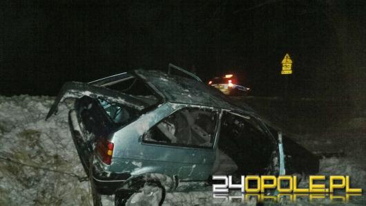 Pijany kierowca dachował pod Starymi Budkowicami