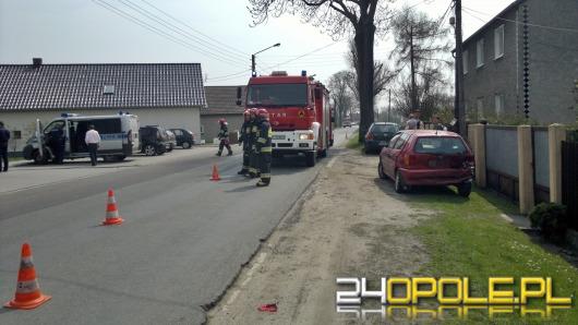 Skoda i volkswagen zderzyły się w Popielowie