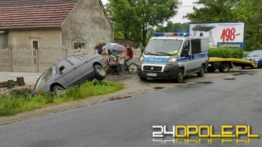 BMW w rowie. Kierowca miał 3,6 promila?