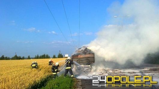 Pożar przyczep z sianem na ul. Wygonowej