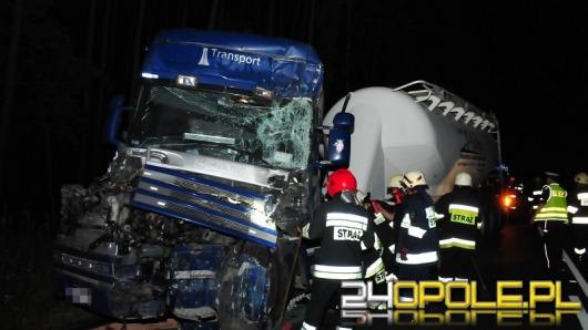 Zderzenie ciężarówek w Grodźcu