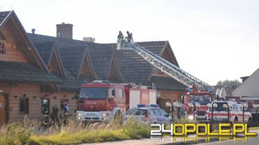 Pożar w restauracji we Wrzoskach. Zawinił niedrożny komin.
