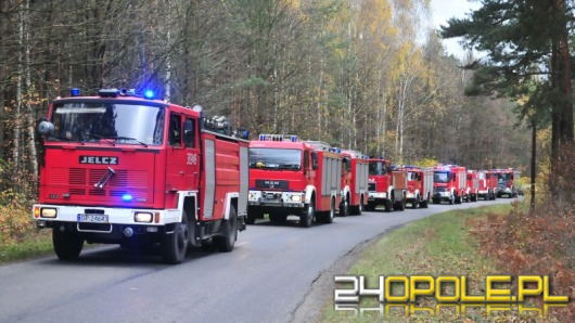 Ćwiczenia strażaków w składzie materiałów wybuchowych