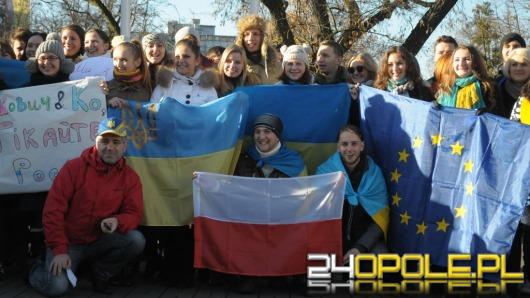 Ukraińscy studenci solidarni z rodakami na Majdanie