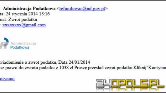 Uwaga na fałszywe e-maile o zwrocie podatku