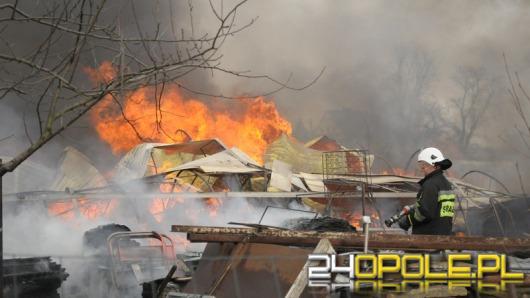 Pożar szklarni w Sławicach