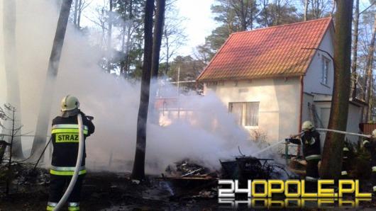 W Turawie spłonęła altana i przyczepa kempingowa