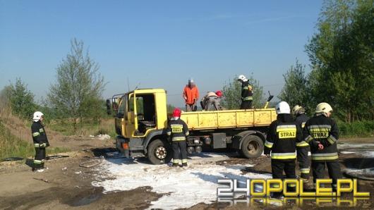 Pożar ciężarówki w Jełowej