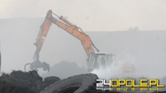 Do piątku potrwa gaszenie pożaru w Buszycach