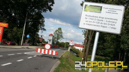 Droga w Kępie będzie zamknięta miesiąc dłużej